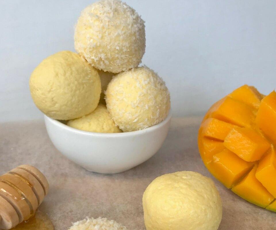 Mango & Honey Cheesecake Balls
