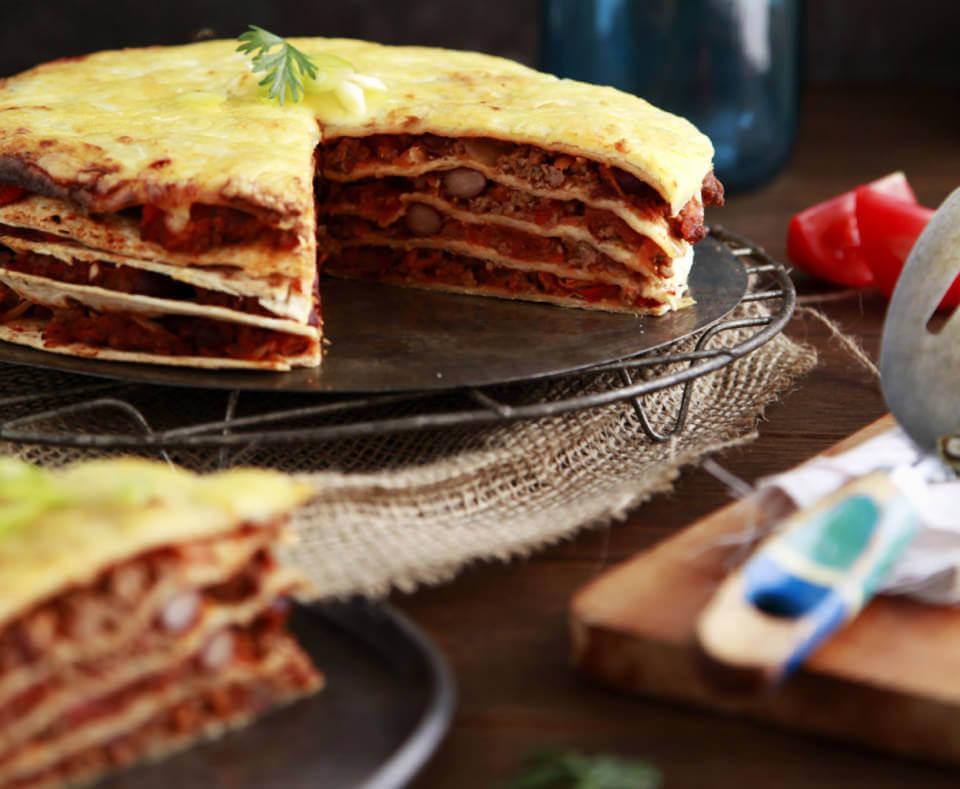 Delicious healthy Mexican lasagna