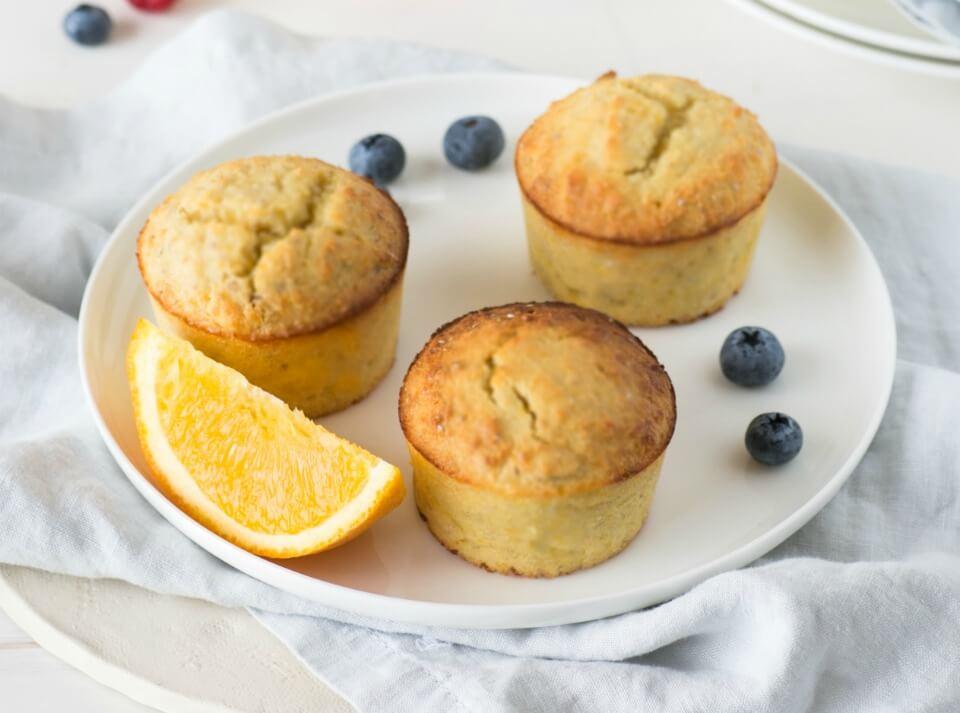 Mini chia and orange muffins