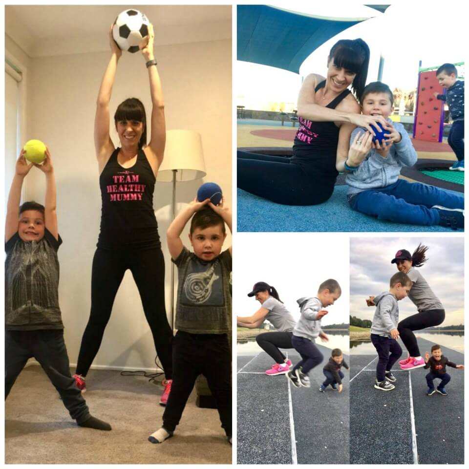 6 exercises you can do with the kids by your side
