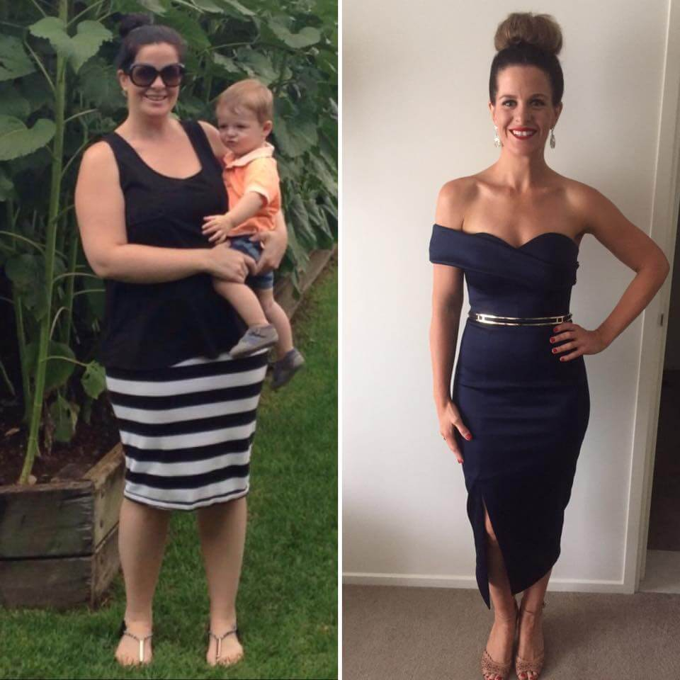 Healthy Mummy Stephanie compares life before and after her 2.9st. weight loss