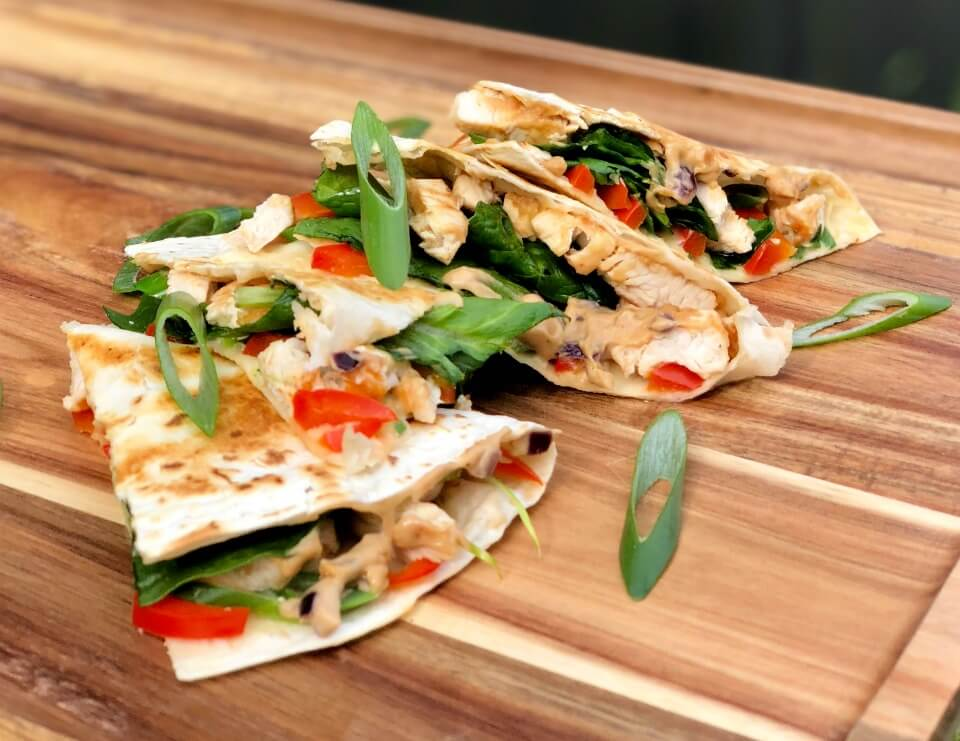 Satay Chicken Quesadilla