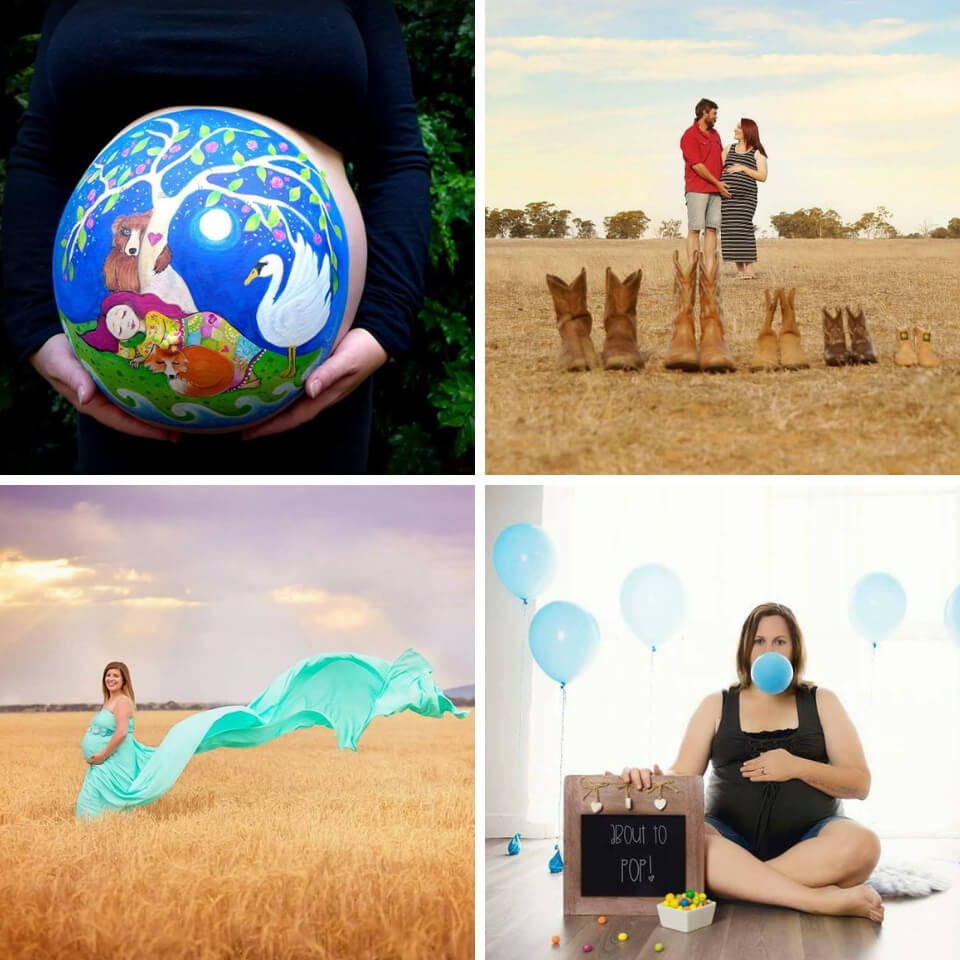 10 amazingly creative and beautiful maternity photo shoot ideas