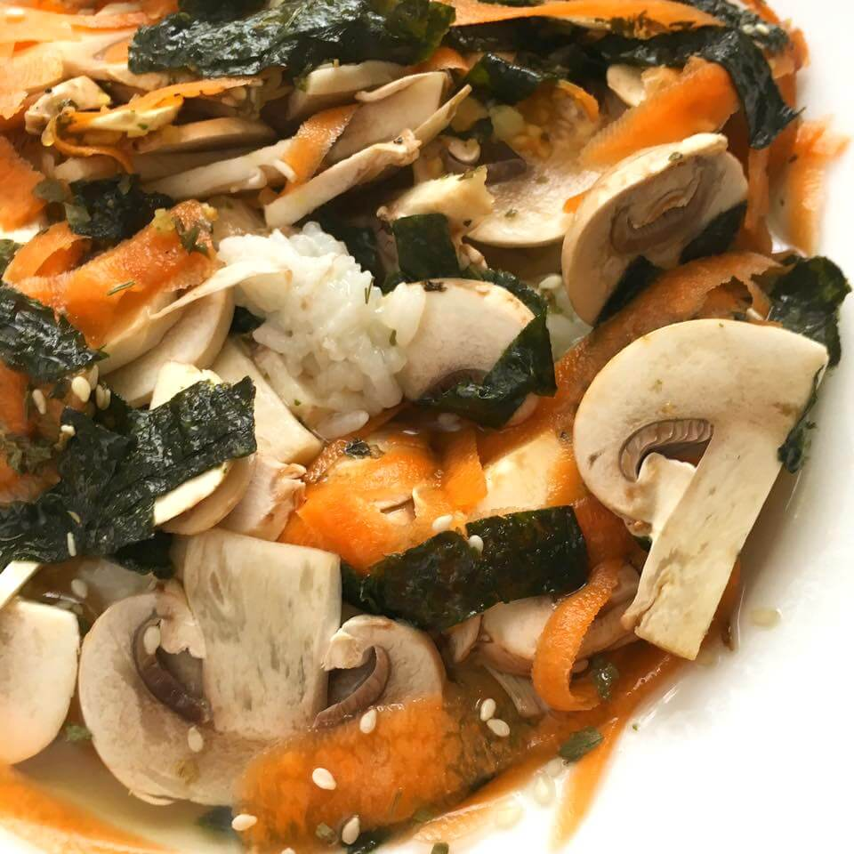 Ochazuke-rice-bowl-with-mushrooms-and-carrot best foods for weight loss