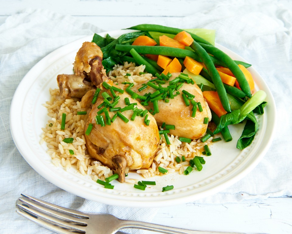 Slow Cooked Taiwanese Chicken and Rice