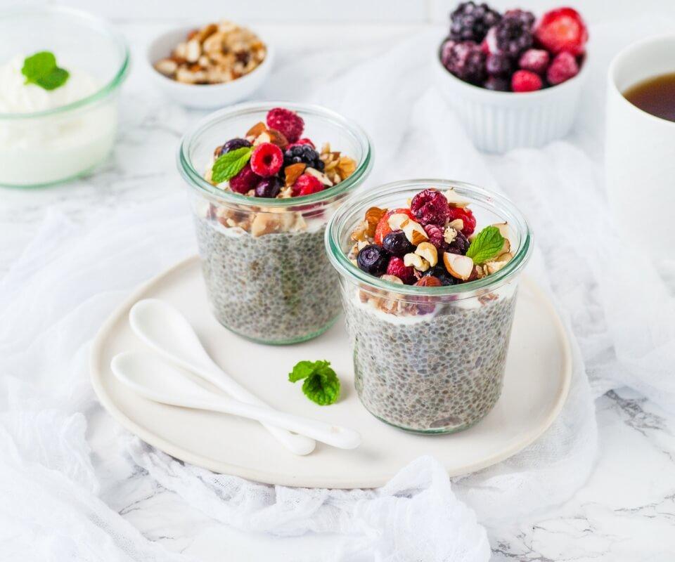 Overnight Nut-and-Berry-Chia-Porridge