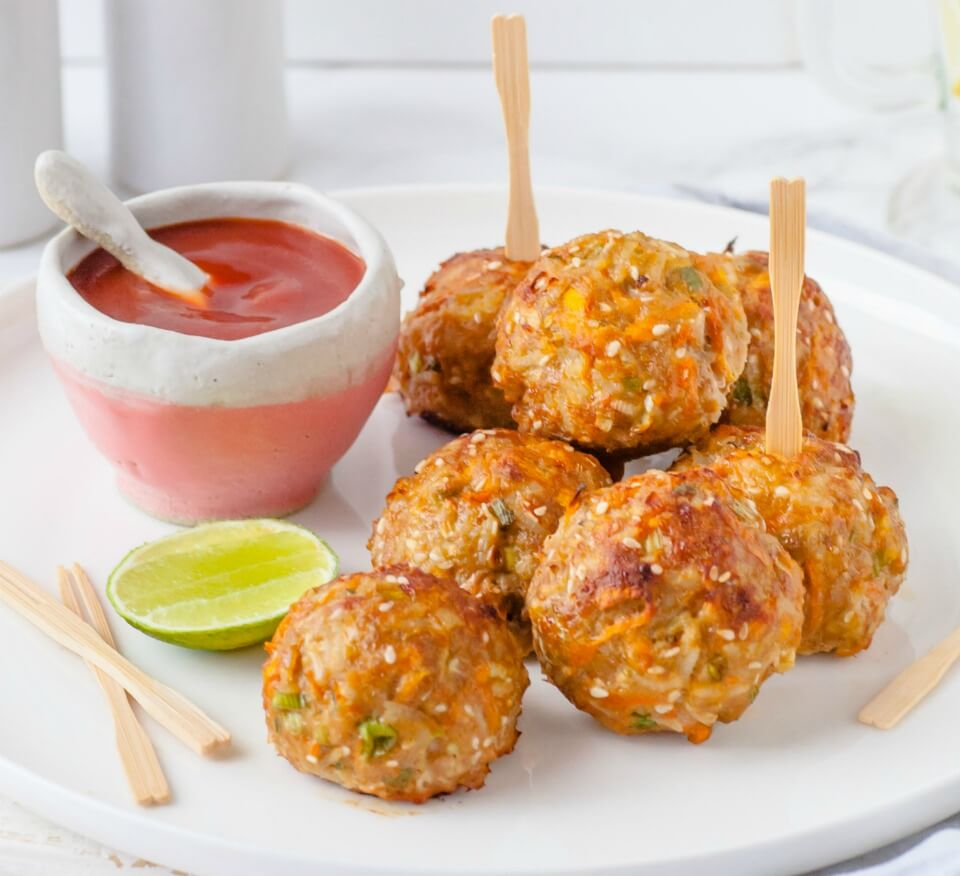 Asian-Pork-Veggie-Rice-Balls