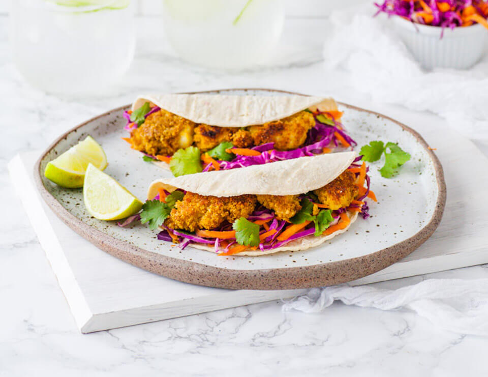 Fish Slaw Burrito