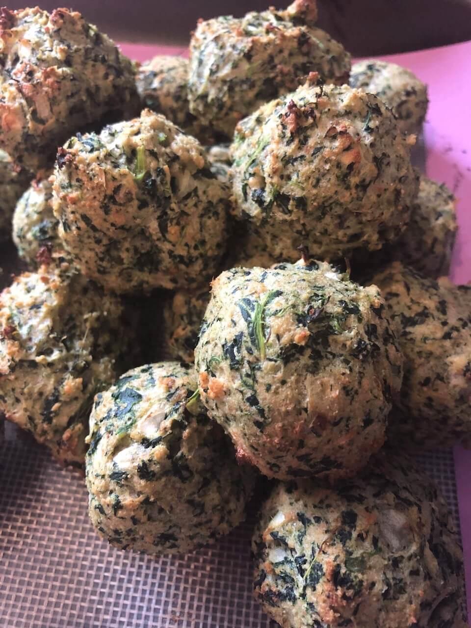 Elizabeth Clare spinach balls