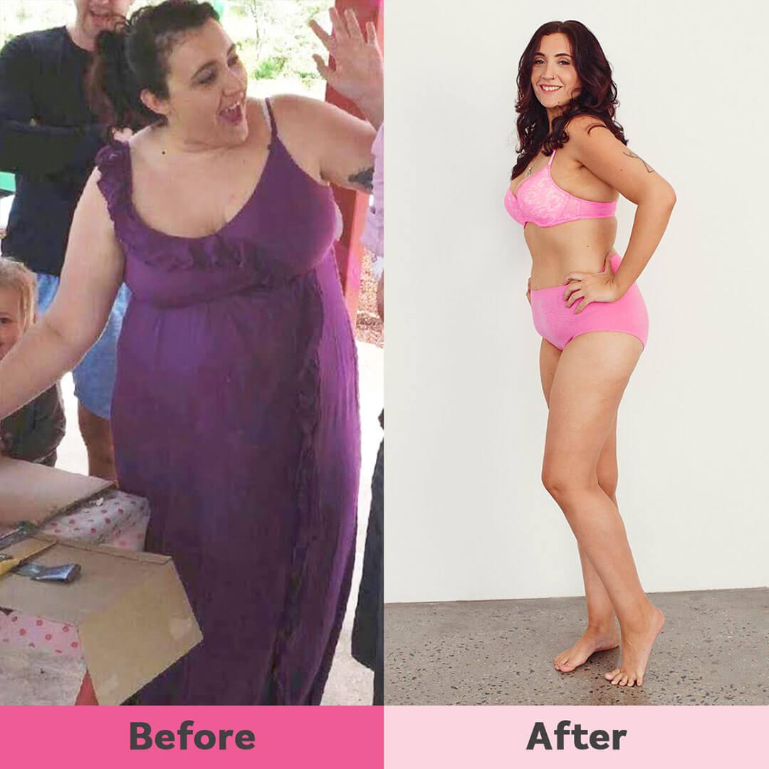 Melanie lost weight