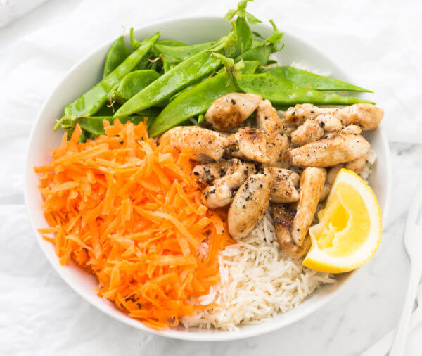 5 Ingredient Ginger Chicken Rice Bowl